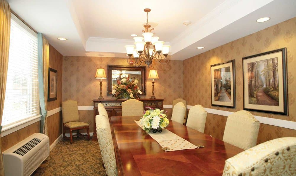 Elegant dining at our assisted living facility in Affton, MO