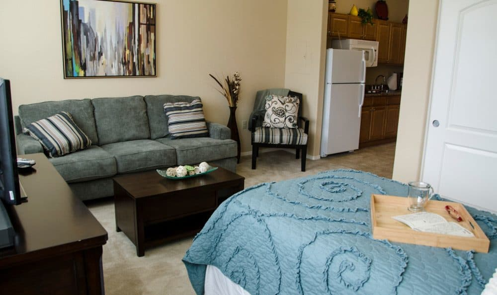 Spacious bedrooms at our senior living facility in Albuquerque, NM