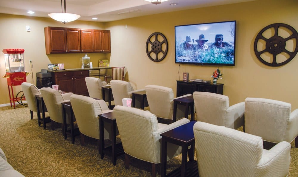 Theater at our senior living facility in Albuquerque, NM