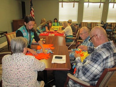 Arts and crafts at Palmilla Senior Living