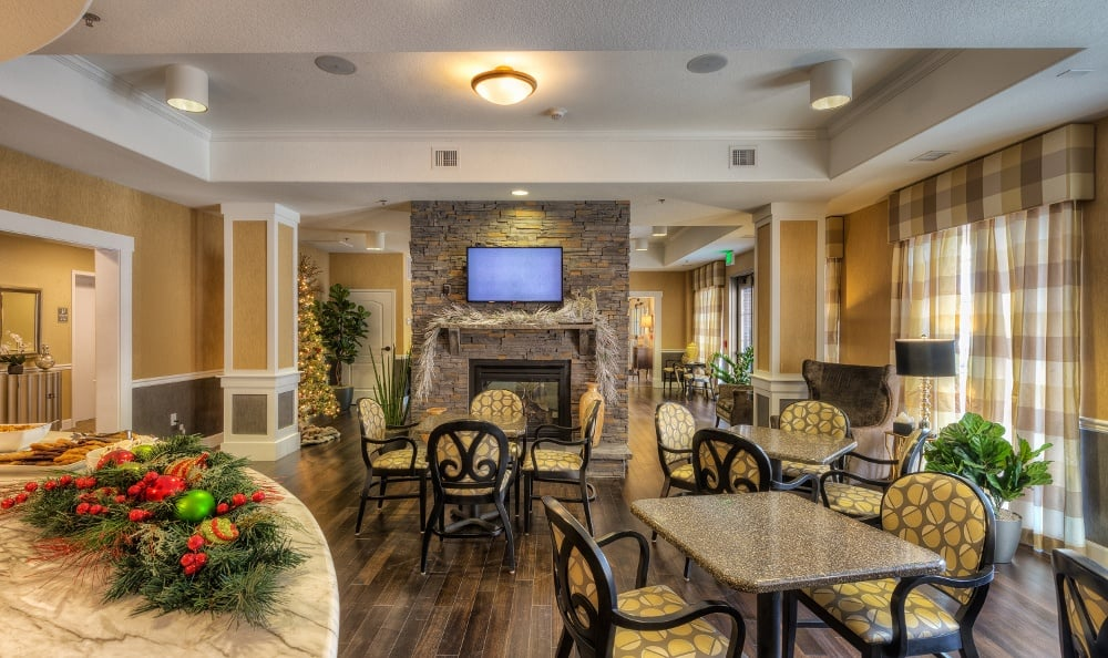 Elegant dining at our assisted living facility in Denver, CO