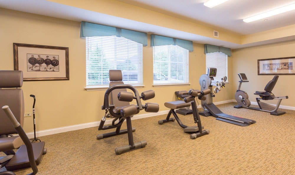 Our Lake Zurich senior living facility has exercise options