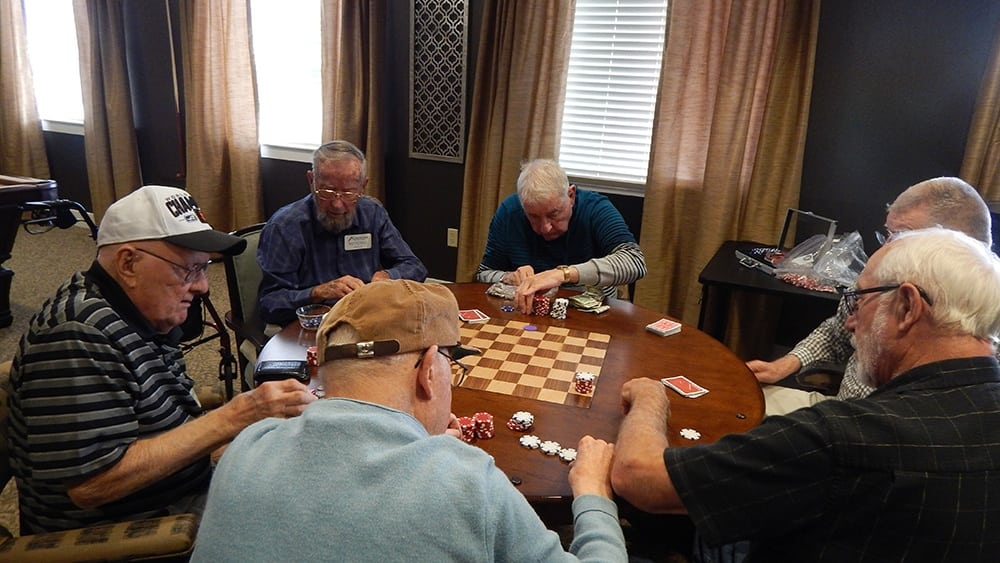 Resident game of cards in Eugene, OR