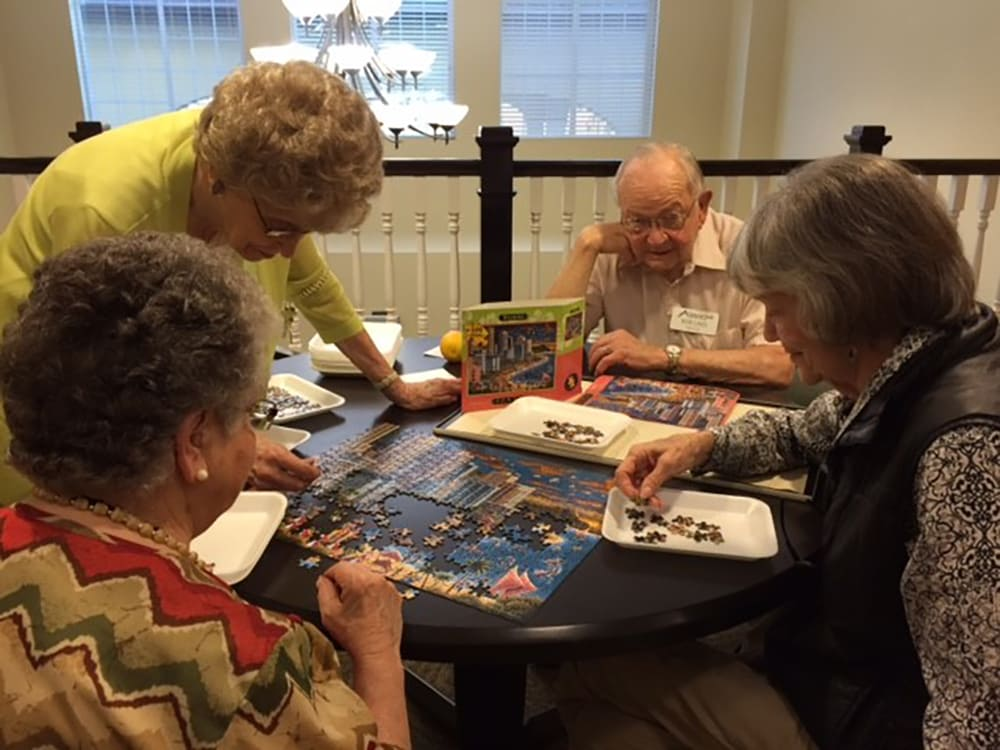 Residents Playing a Game at Crescent Park