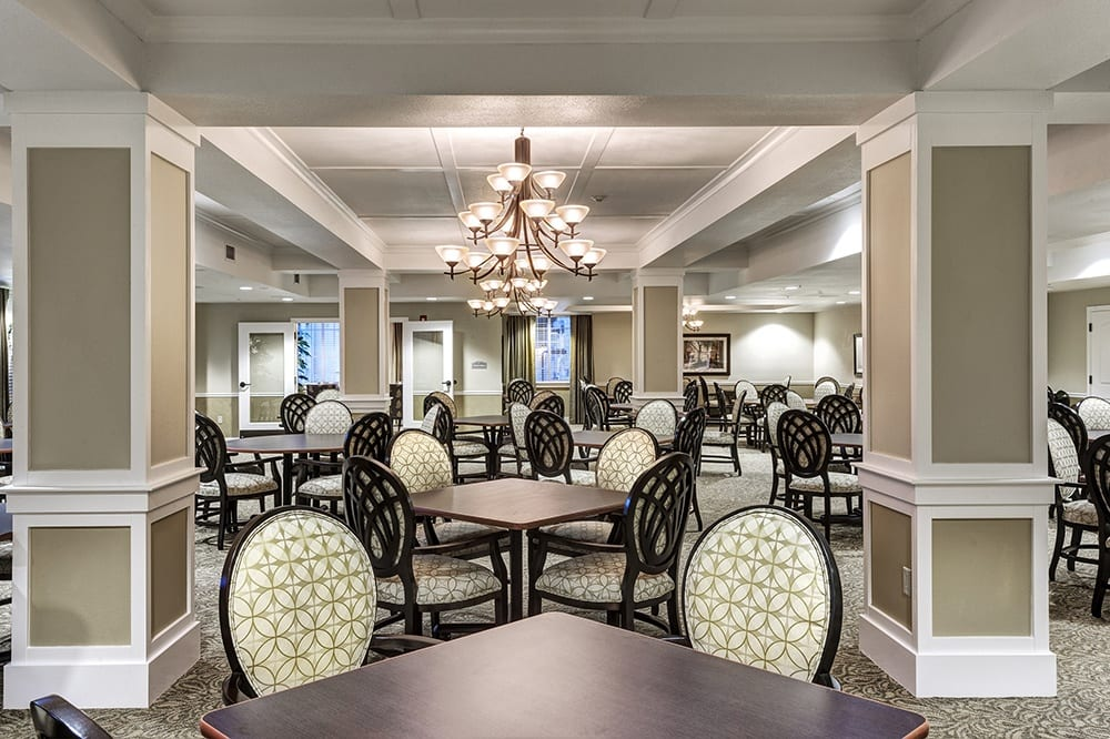 Dining Room at our senior living community in Eugene, OR