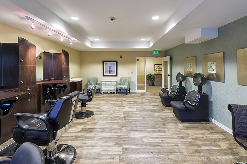 Salon at our senior living community in Eugene, OR