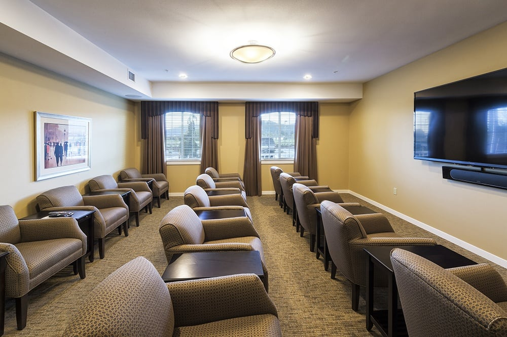Theater at our senior living community in Eugene, OR