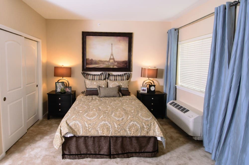Bedroom At Our Fishers In Senior Living Community