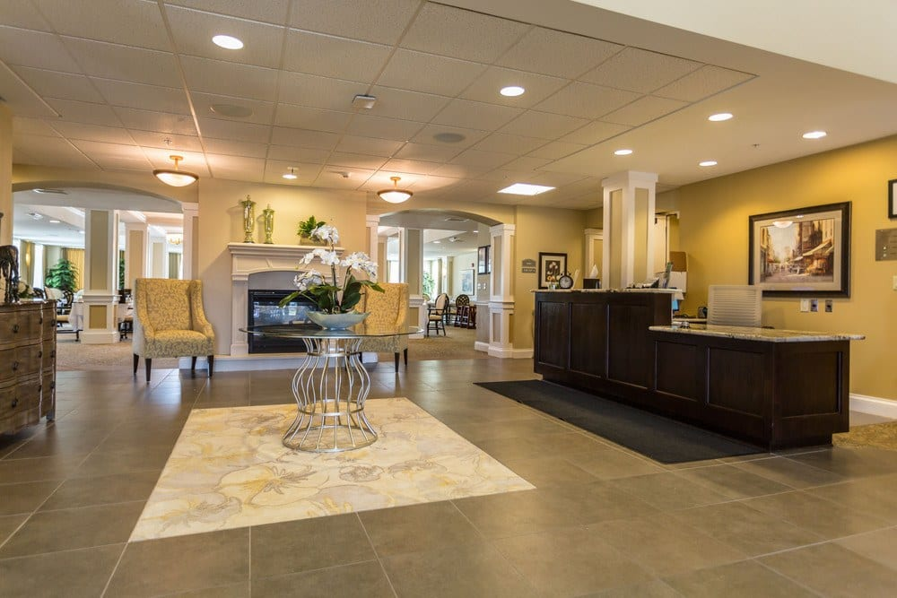 Grand Entrance To Our Fishers In Senior Living Community