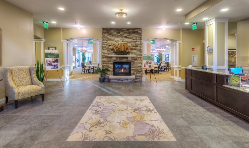 Grand entrance of Creve Coeur Assisted Living & Memory Care