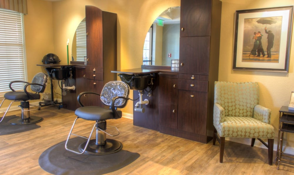 Salons at our senior living facility in Centennial, CO