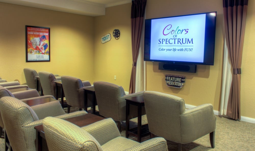 Theater at our senior living facility in Centennial, CO
