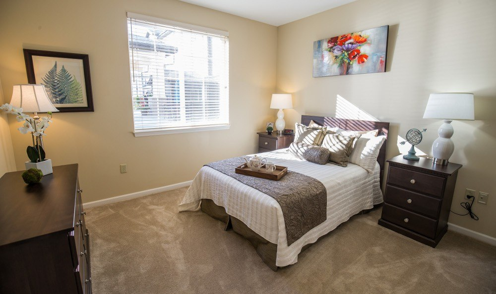 Spacious bedrooms at our Carmel, IN senior living facility