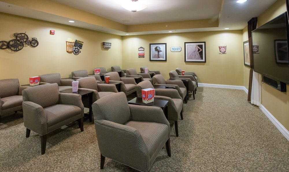 Theater at our Carmel, IN senior living facility