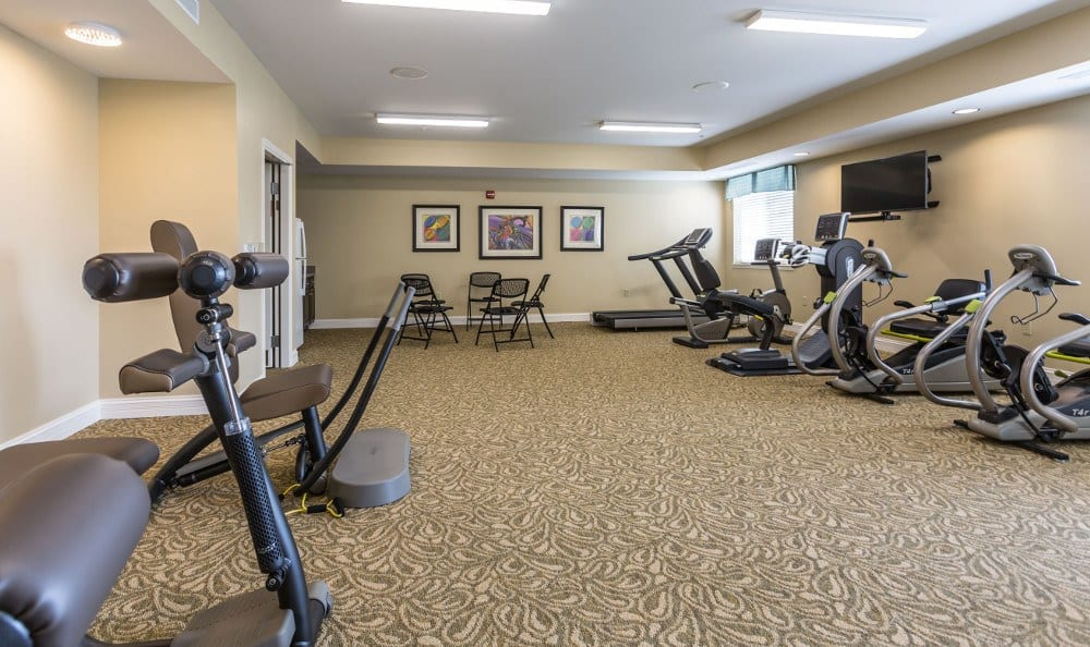 Exercise options at Carmel Senior Living