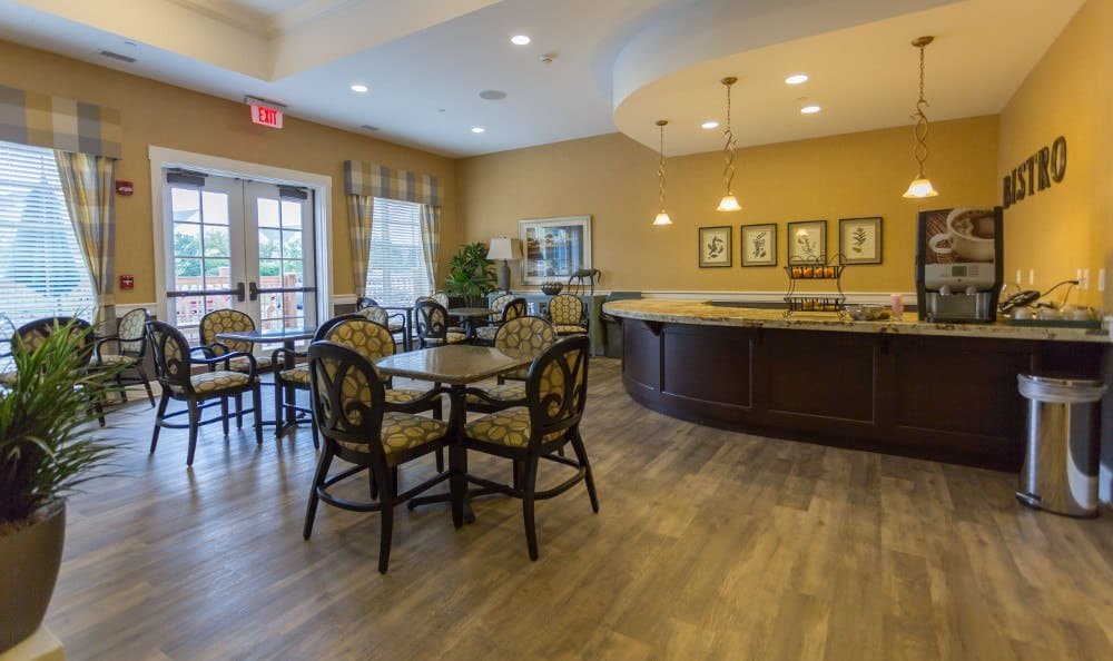 Elegant dining at our Lombard senior living facility