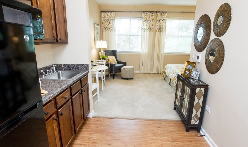 Modern amenities at our Lombard senior living facility