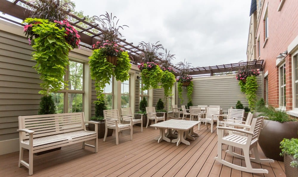 Delightful Back Patio At Our Lombard Senior Living Facility