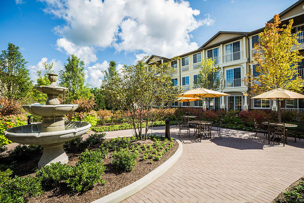 Beautiful Outside space at Westbrook Senior Living