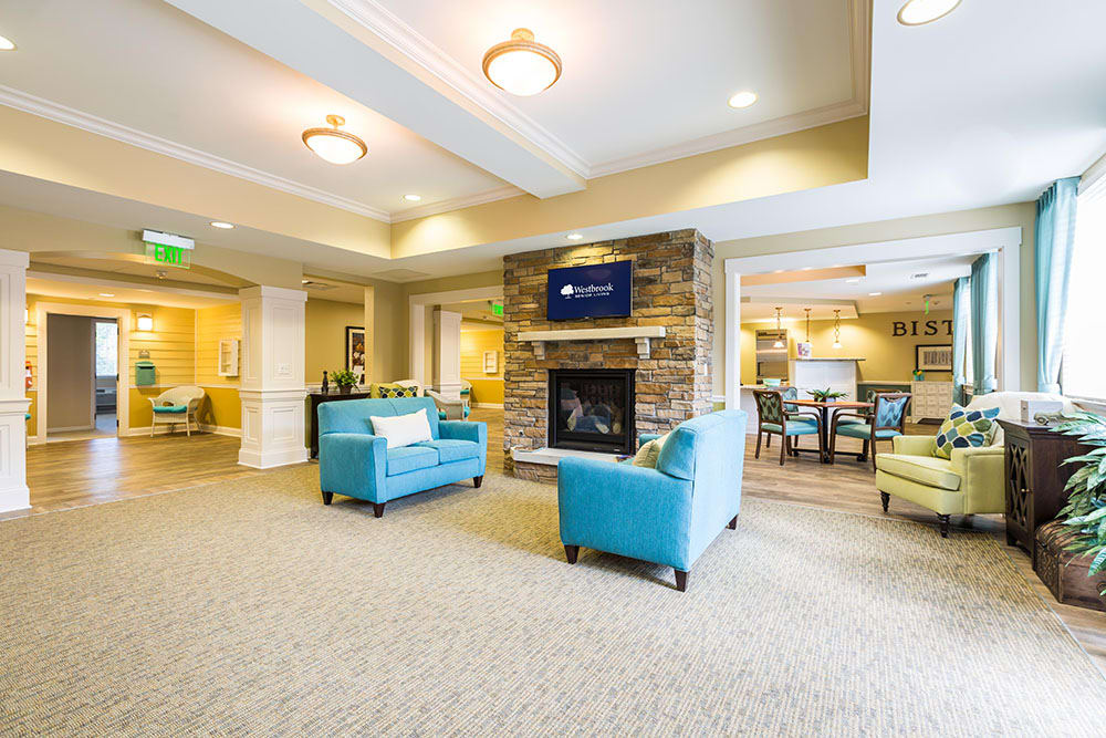 Bistro and Community Room at Westbrook Senior Living
