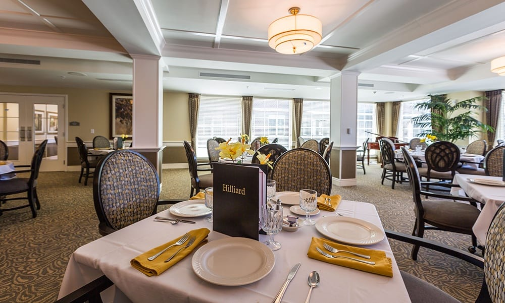 Dining Room at our assisted living community in Hilliard, OH