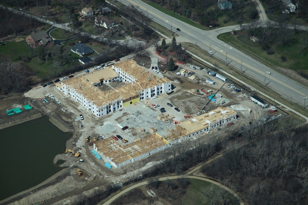 Construction View Of Our Libertyville Senior Living Community