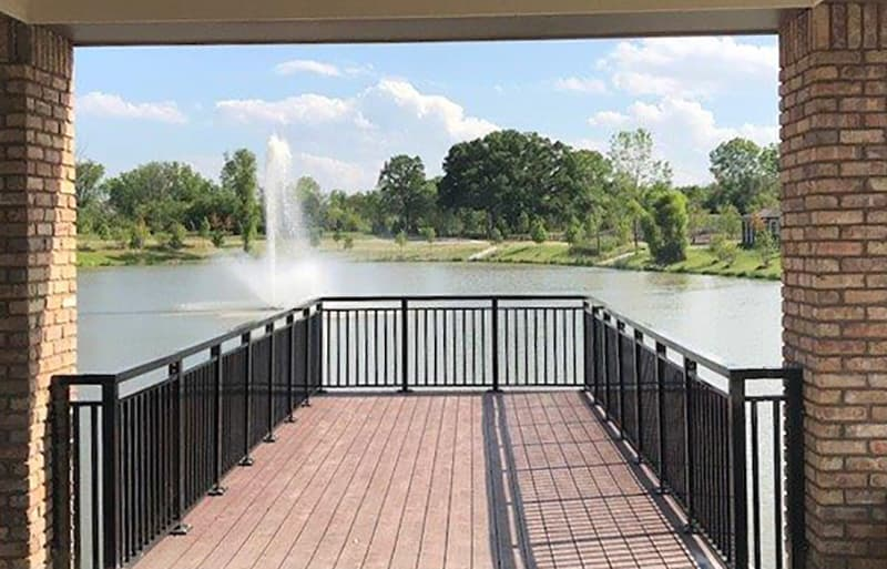 Gaze upon the fountain at Green Oaks Senior Living