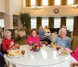 Luxurious amenities at senior living community in Lakeway, TX