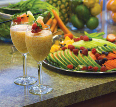 Delicious and nutritious smoothies at Three Creeks Senior Living