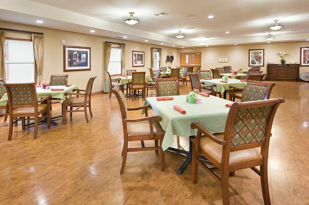Dining hall inside of The Village at Hamilton Pointe