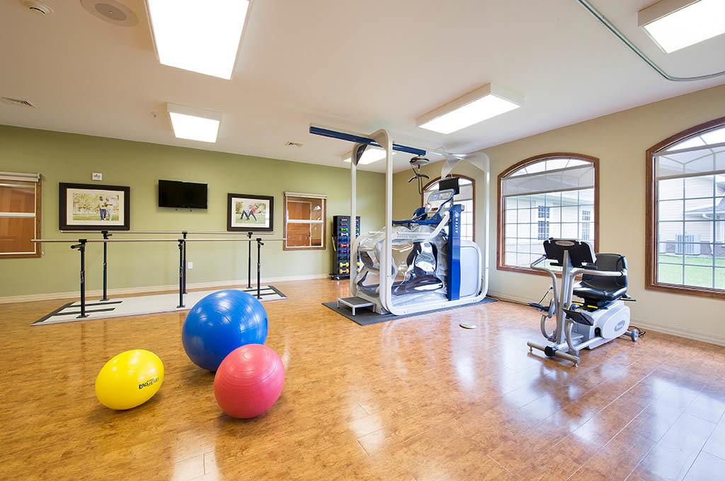 Fitness center inside of The Village at Hamilton Pointe