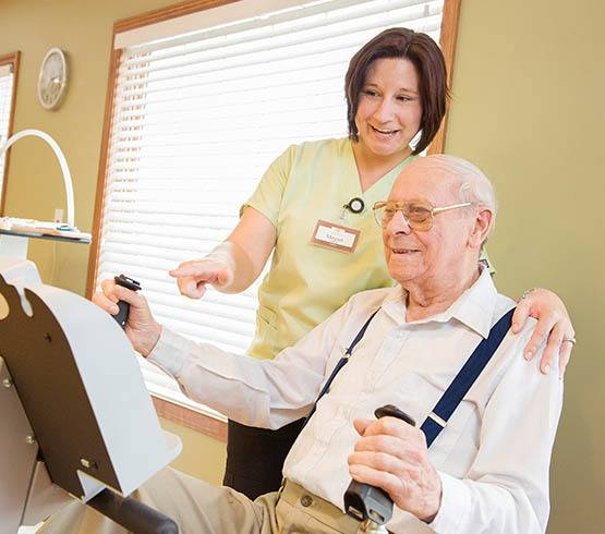 Occupational therapist at Colonial Oaks Retirement Community