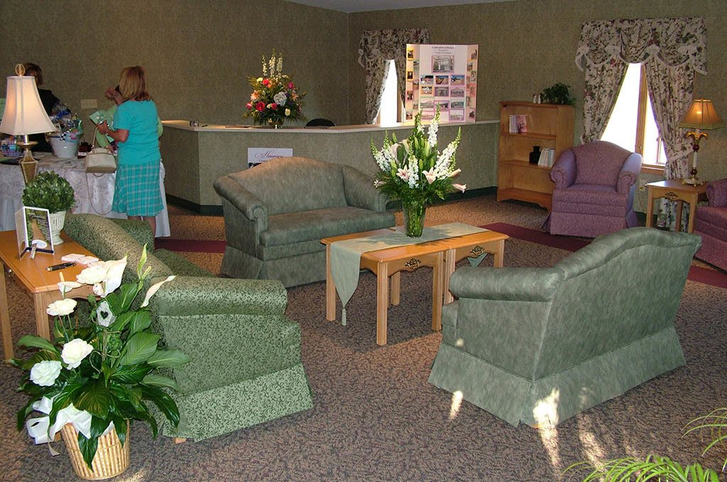 Community area at Homeview Health & Rehabilitation Center