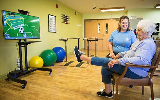 Physical therapy rehab services at Homeview Health & Rehabilitation Center
