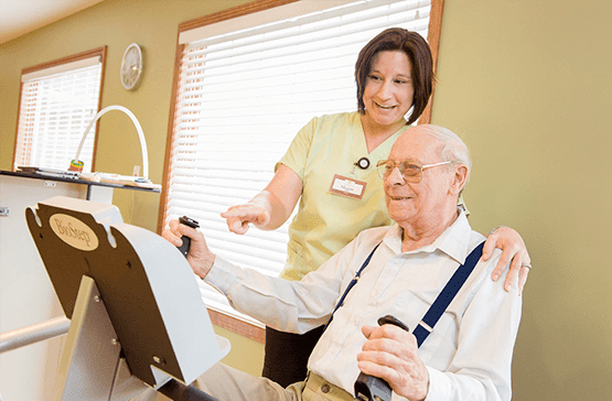 Rehabilitation services at the senior living community in Fort Wayne