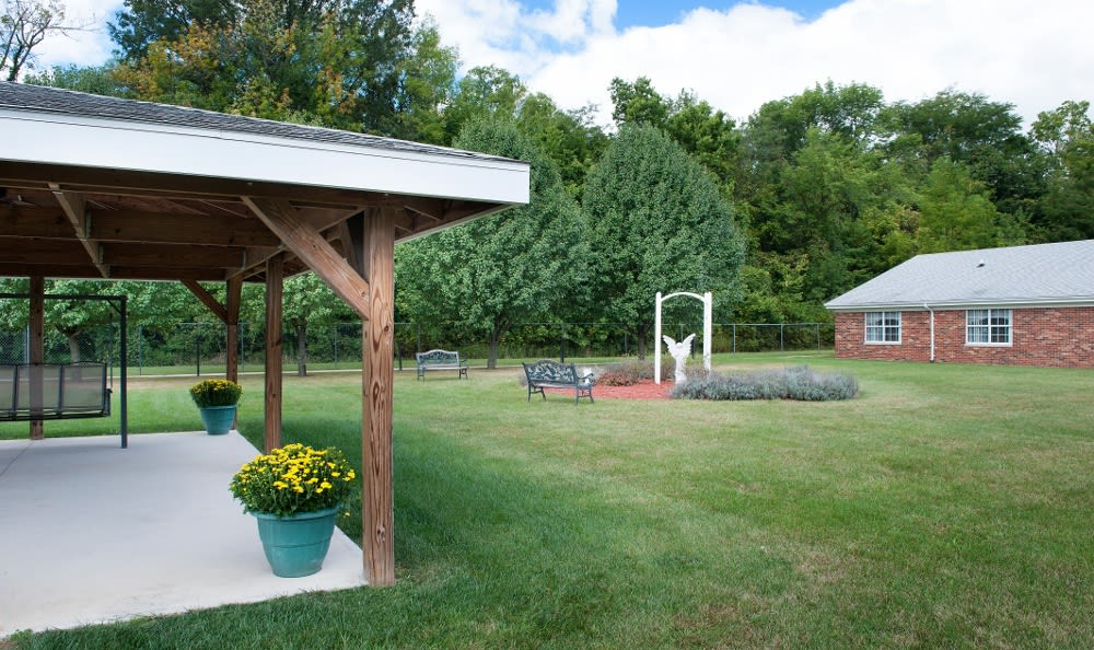 Well maintained yards here at our senior living facility in Albany, IN