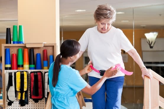 Physical therapy rehab services at Albany Health & Rehabilitation Center