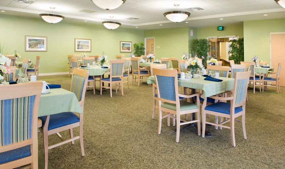 Large Community Dining Hall at The Village at Vienna Square.