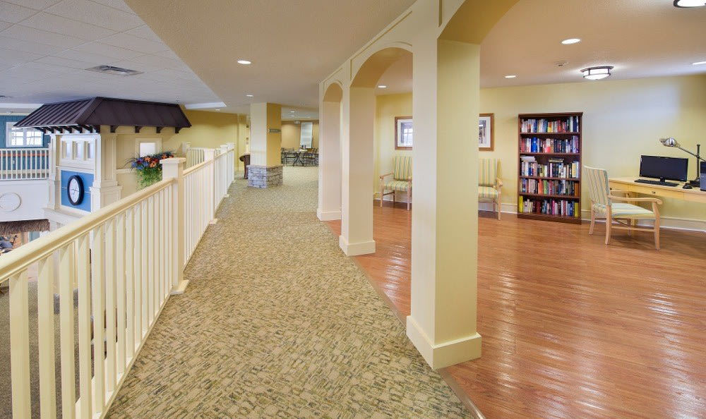 Relax with a Good Book in the Library at The Village at Vienna Square.