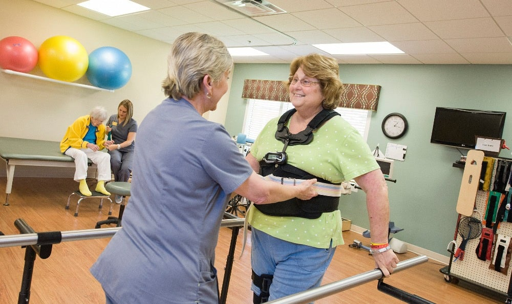 Exercise and rehabilitation area at senior living in Winter Haven
