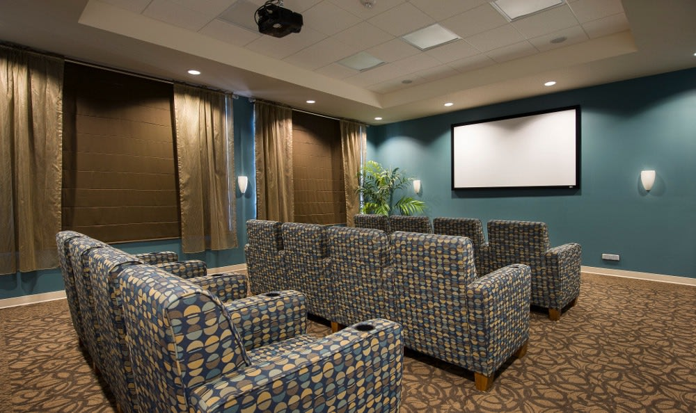 Entertainment center here at senior living in Winter Haven