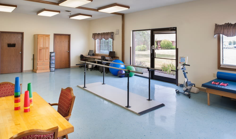 Exercise facility at our senior facility in Muncie