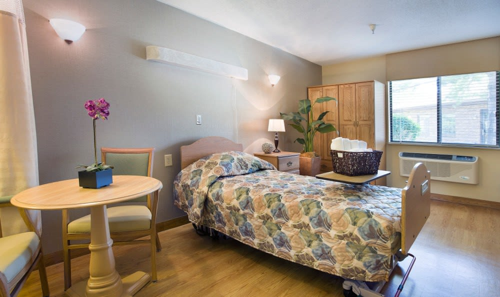 Spacious senior living bedrooms right here at our facility in Marion, IN