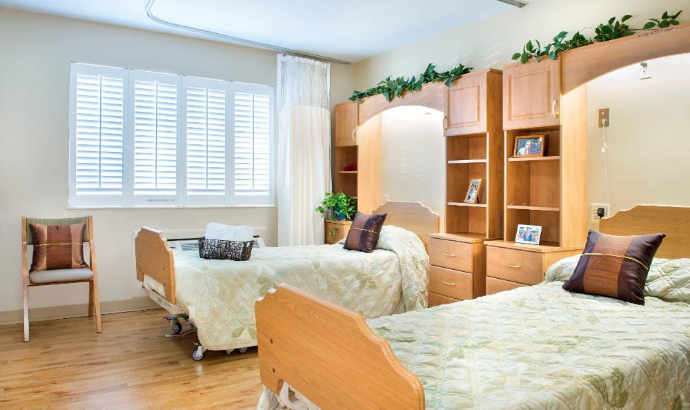Spacious bedrooms at our senior health care facility here in Warsaw, IN