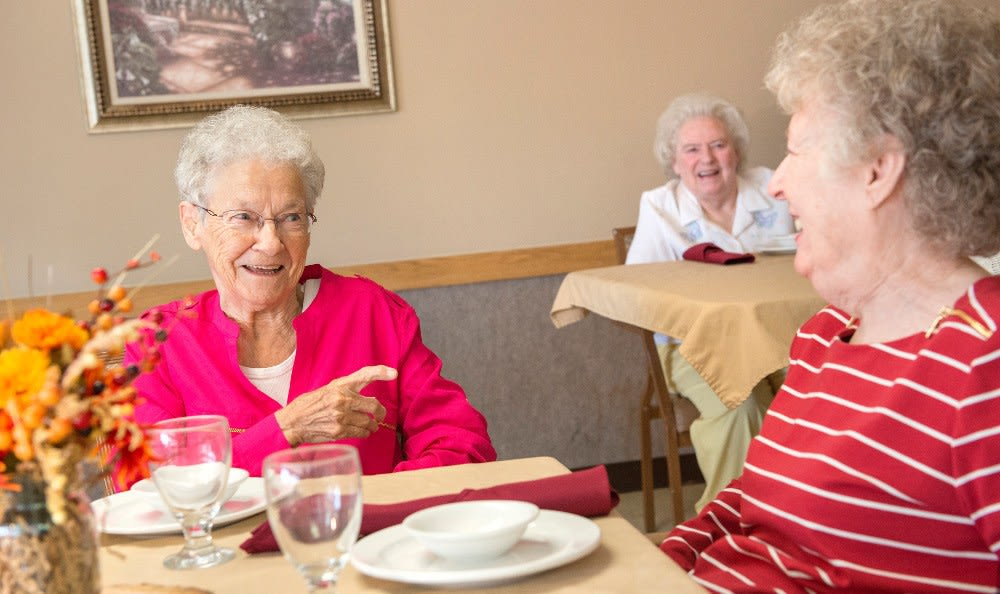 Fine dining at our skilled nursing apartments here at Ossian Health and Rehabilitation Center