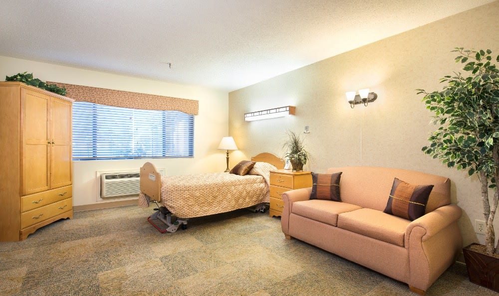 Spacious living quarters at skilled nursing in Ossian, IN