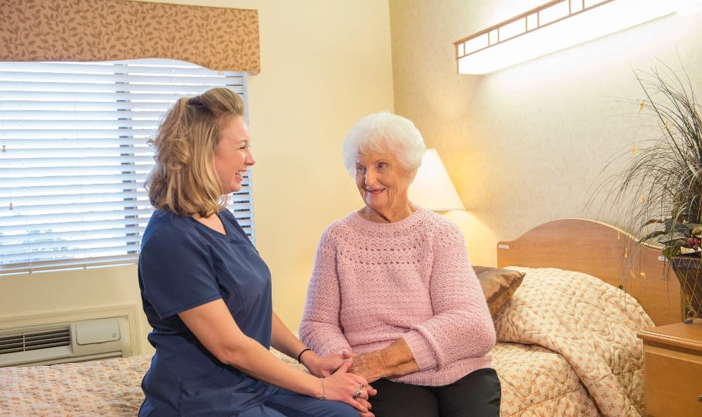 Nurse and skilled nursing resident here at Ossian Health and Rehabilitation Center