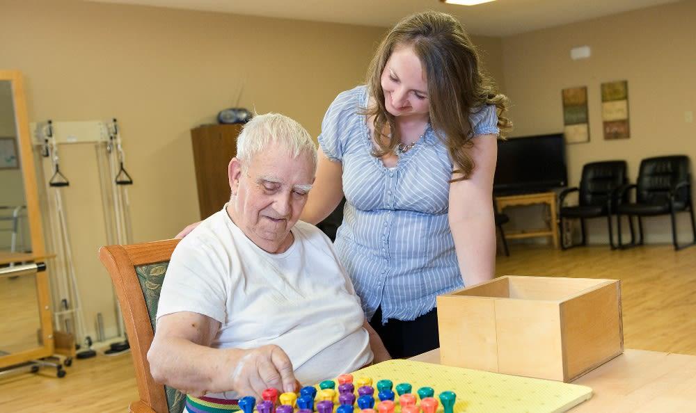 Engaging senior living entertainment here at Parker Health & Rehabilitation Center