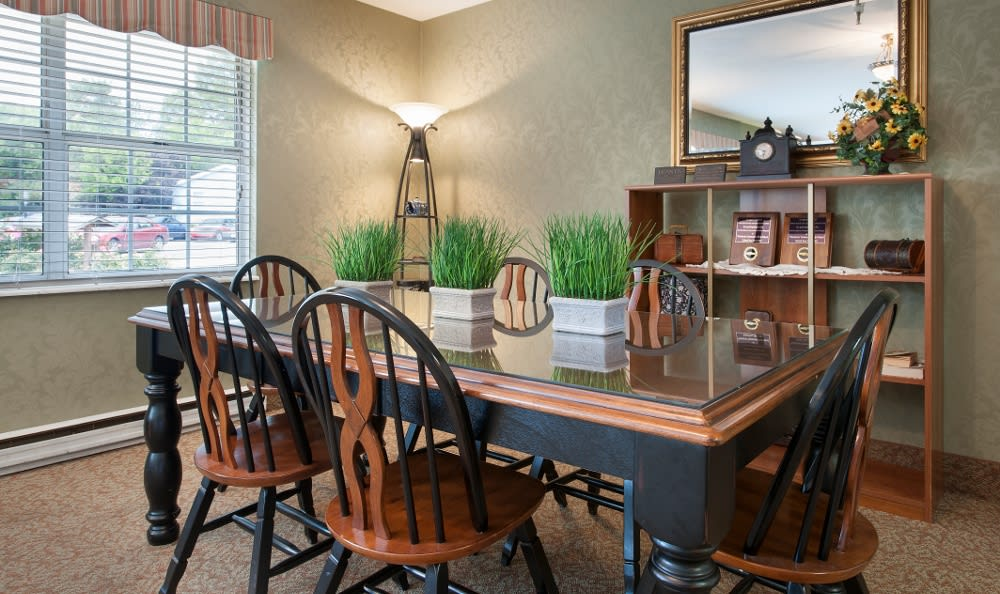 Our Parker City, IN senior health care facility has fine dining