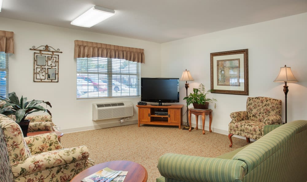 Spacious senior living quarters here in Parker City, IN